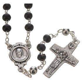 Terço preto e cruz Papa Francisco s2