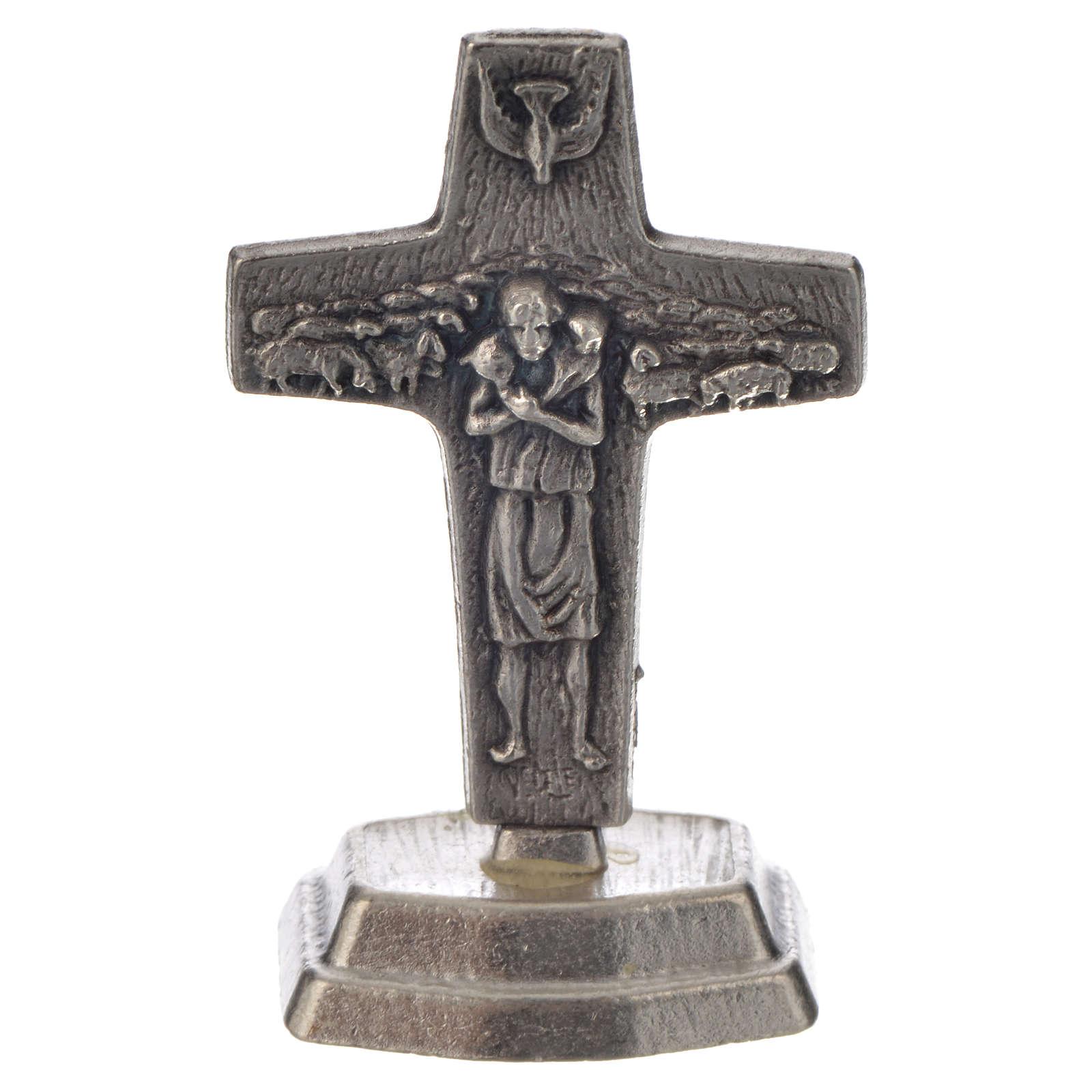 Chapelet acajou et croix Pape François 4