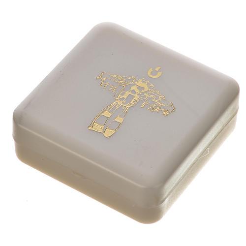 Różaniec mahoniowy i krzyż Papieża Franciszka 6