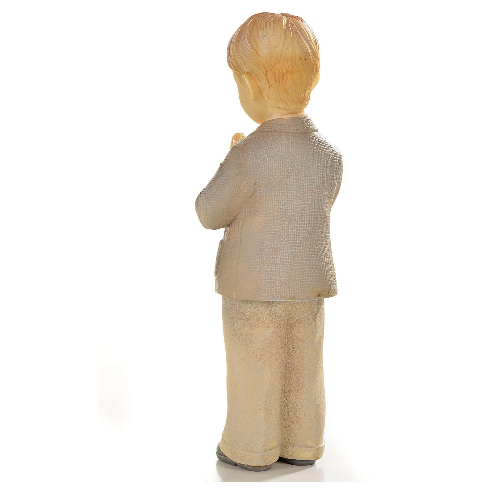 Garçon en prière 12cm résine peinte 3