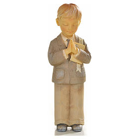 Garçon en prière 12cm résine peinte s1