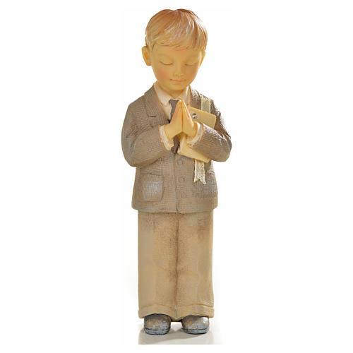Garçon en prière 12cm résine peinte 1