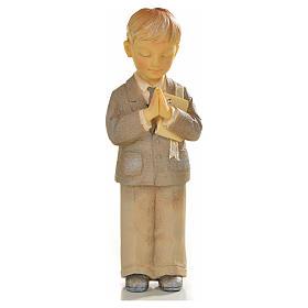 Bambino in preghiera resina s1