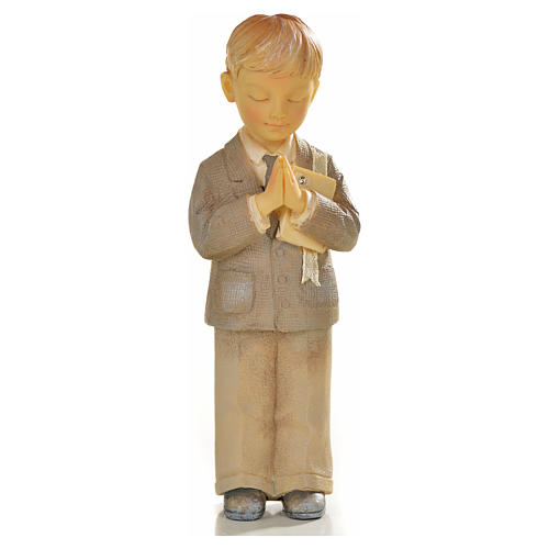 Bambino in preghiera resina 1
