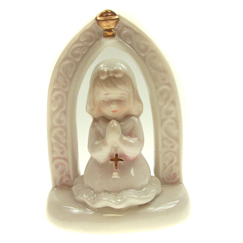 Bambina in ceramica Prima Comunione 11 cm 3