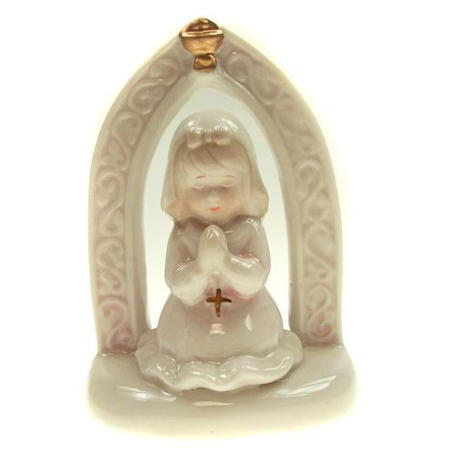 Bambina in ceramica Prima Comunione 11 cm 1