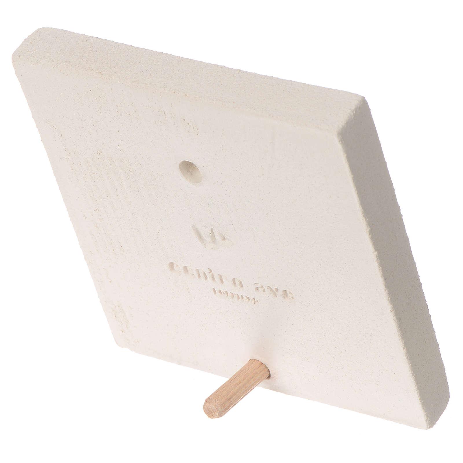 Quadretto Prima comunione argilla Centro Ave 10 cm 3