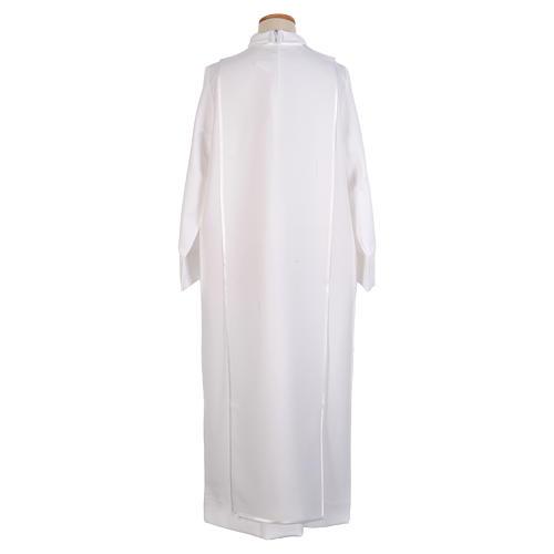 First Communion alb trimmed scapular and eucharistic symbols 3