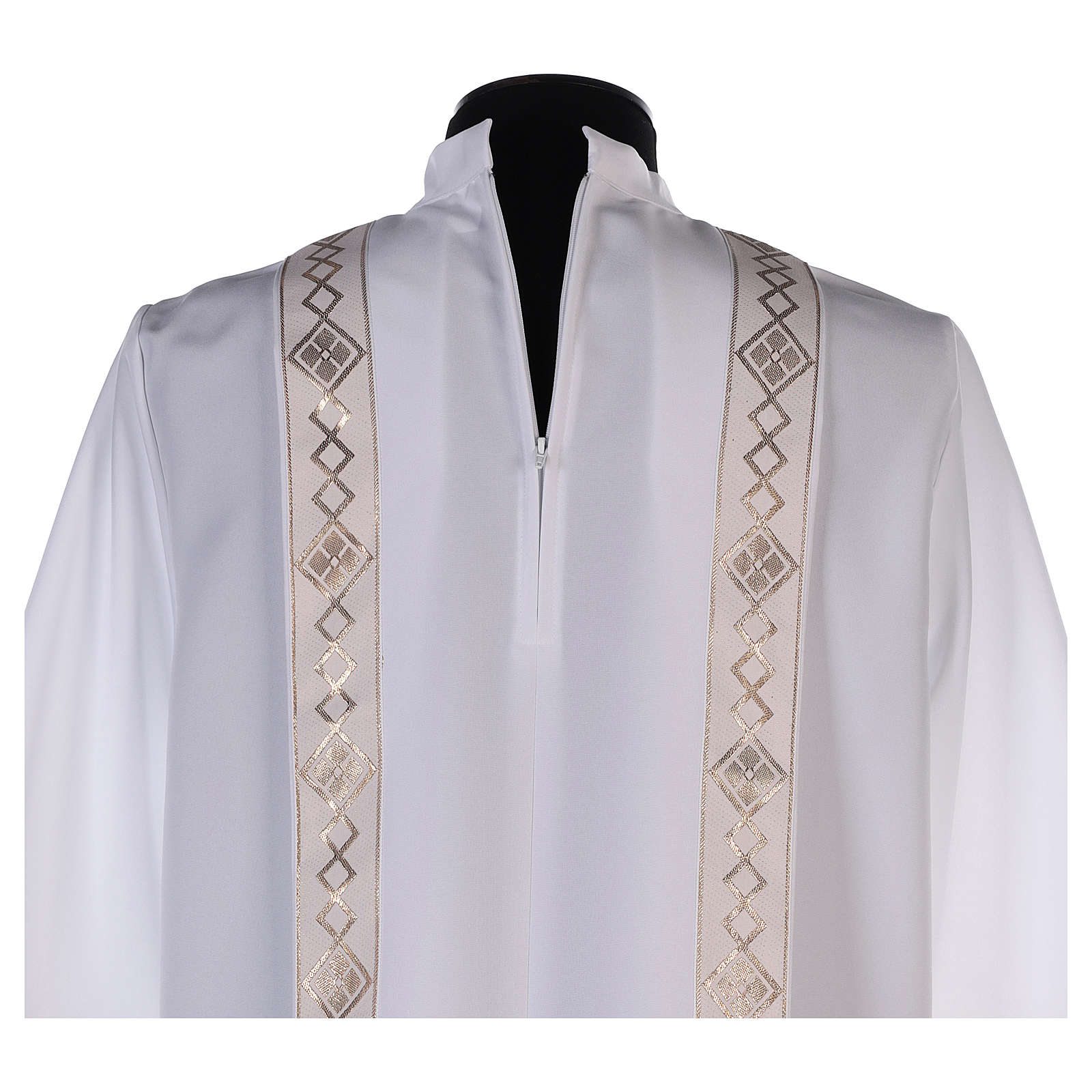 Aube Première Communion bord or col montant 4