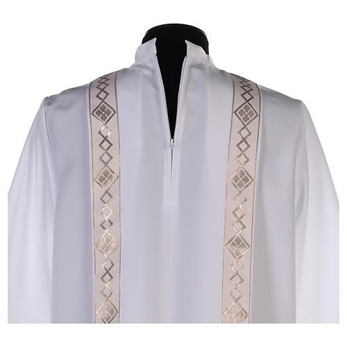 Aube Première Communion bord or col montant 6