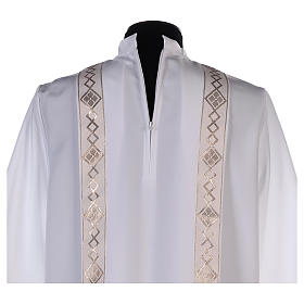 Holy Communion dress with golden hem and high collar s6