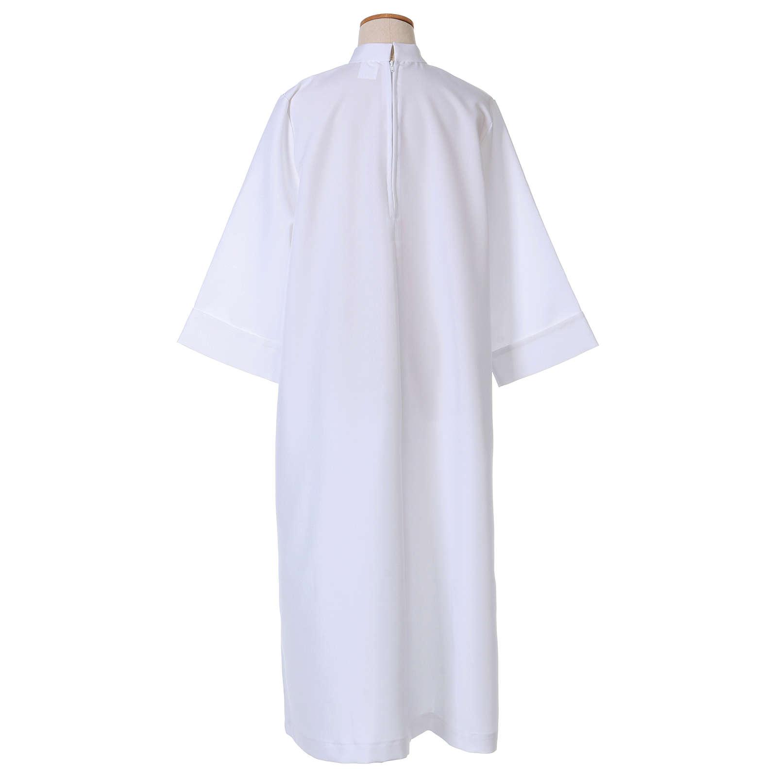 Vestido Primera Comunión poliéster abocinado cuello alto 4