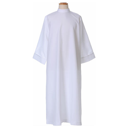 First communion dress with high collar in polyester flared 1