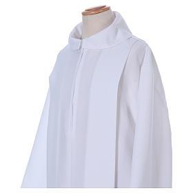 Vestido Primera Comunión poliéster dos pliegues falsa capucha s2