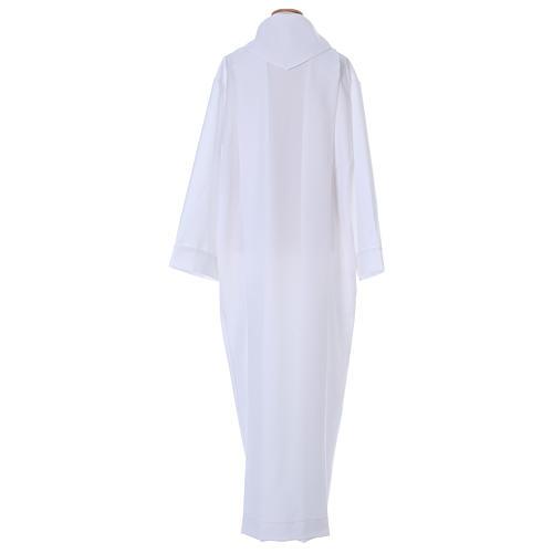 Vestido Primera Comunión poliéster dos pliegues falsa capucha 5