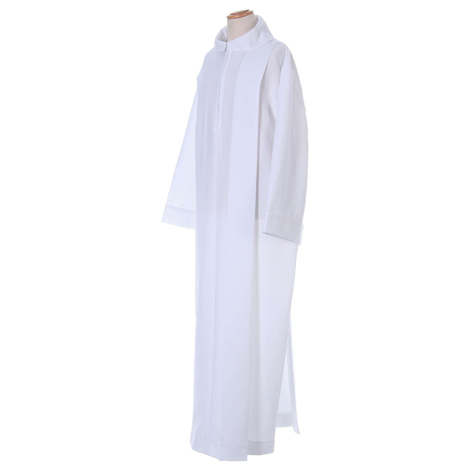 Aube Première Communion polyester deux plis fausse capuche 4