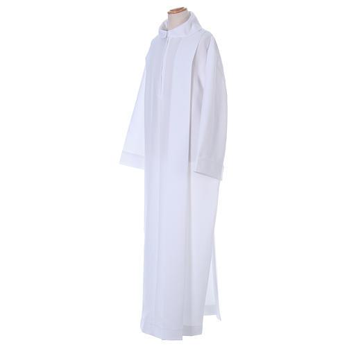Aube Première Communion polyester deux plis fausse capuche 3