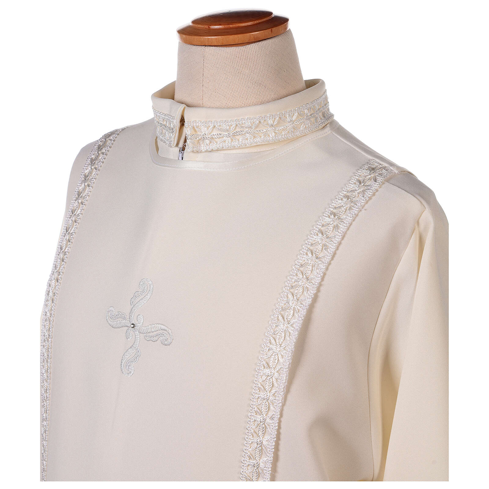 First Communion alb ivory with white embroidery girl 4
