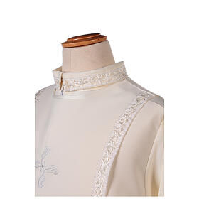 First Communion alb ivory with white embroidery girl s2