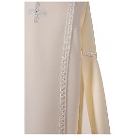 First Communion alb ivory with white embroidery girl s6