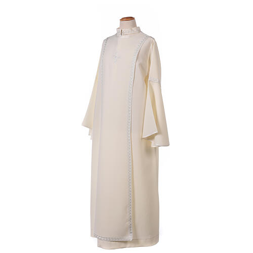 First Communion alb ivory with white embroidery girl 3