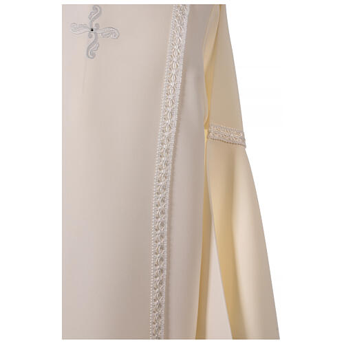 First Communion alb ivory with white embroidery girl 6