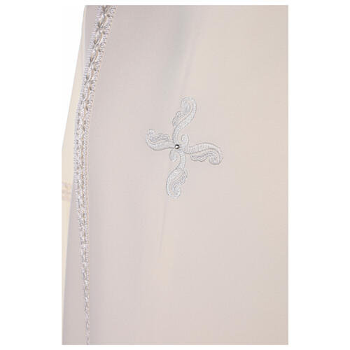 First Communion alb ivory with white embroidery girl 8