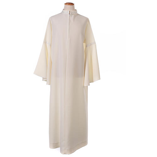 First Communion alb ivory with white embroidery girl 10