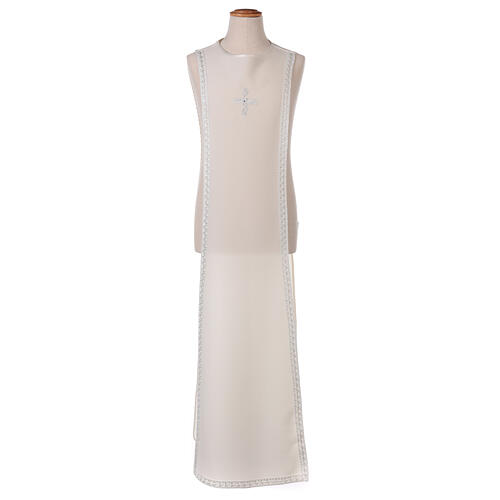 First Communion alb ivory with white embroidery girl 12