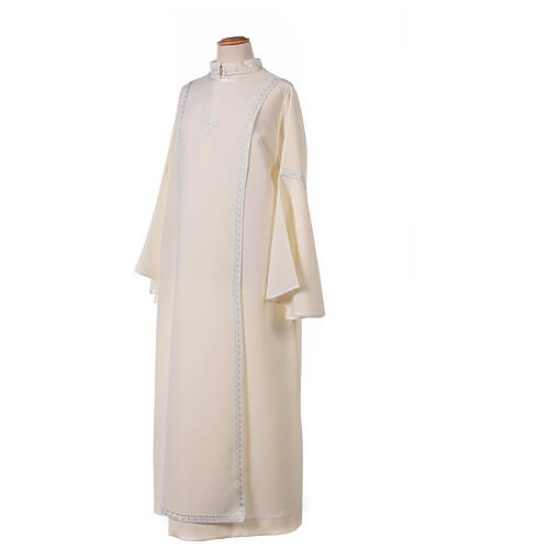 First Communion alb ivory with white embroidery girl 14