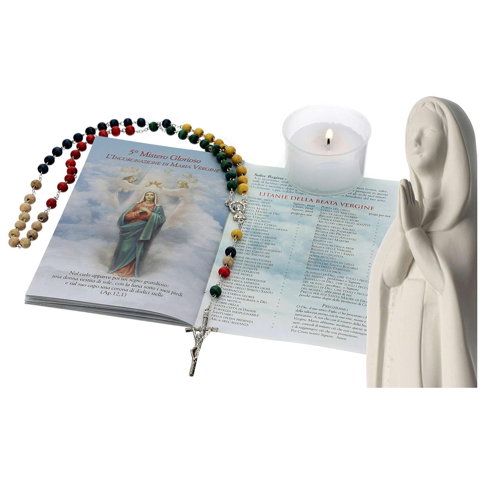 Chapelet, livret et statue de la Sainte Vierge 4