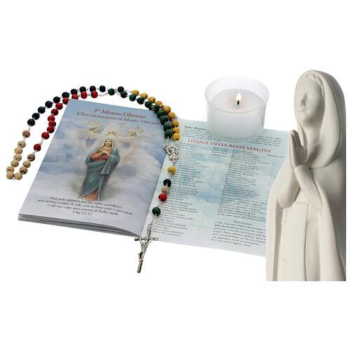 Chapelet, livret et statue de la Sainte Vierge 1