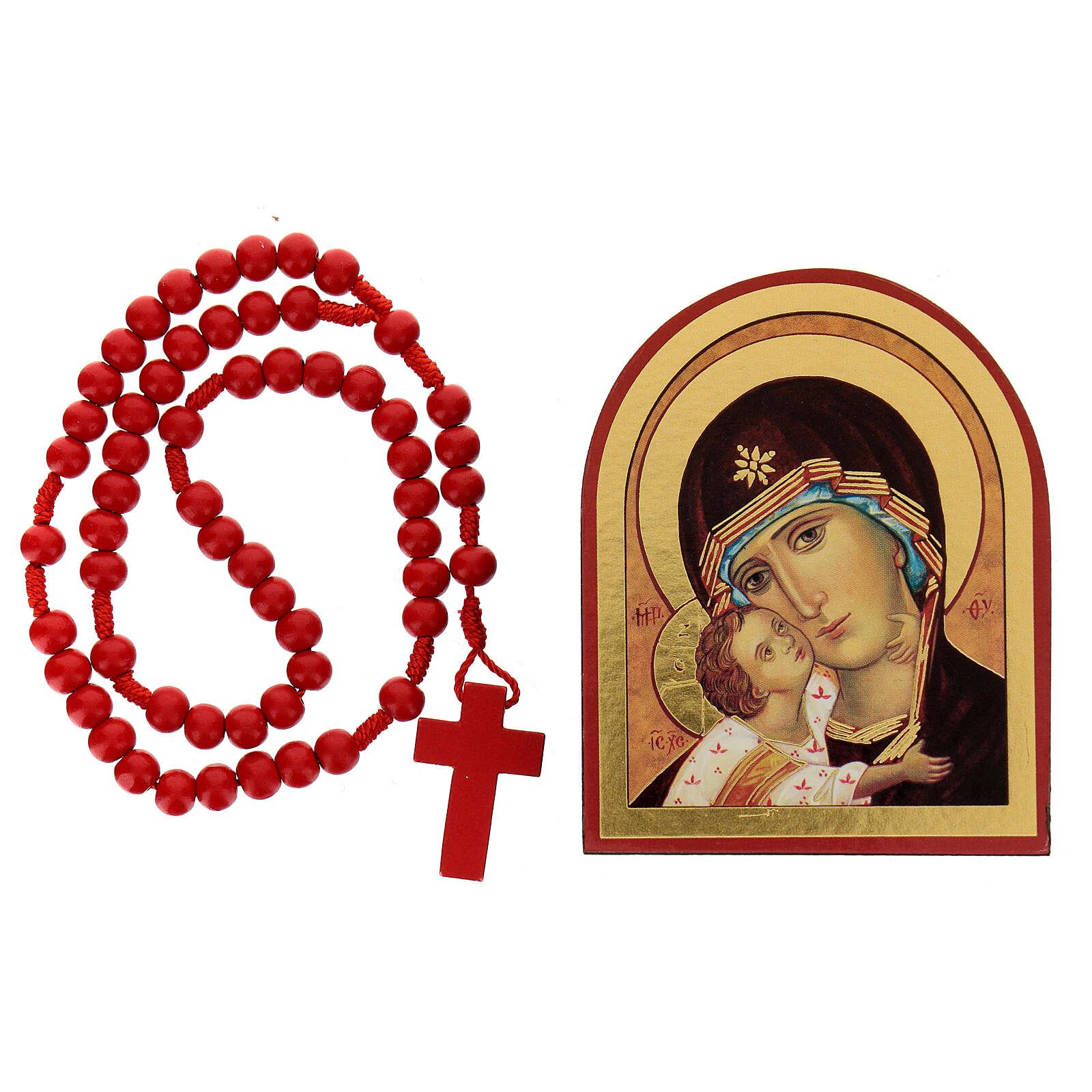 Kit rosario e icona Madonna Tenerezza 3