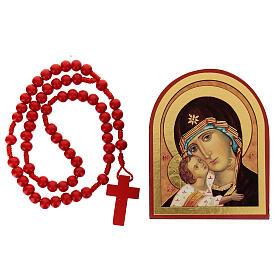 Kit rosario e icona Madonna Tenerezza s1