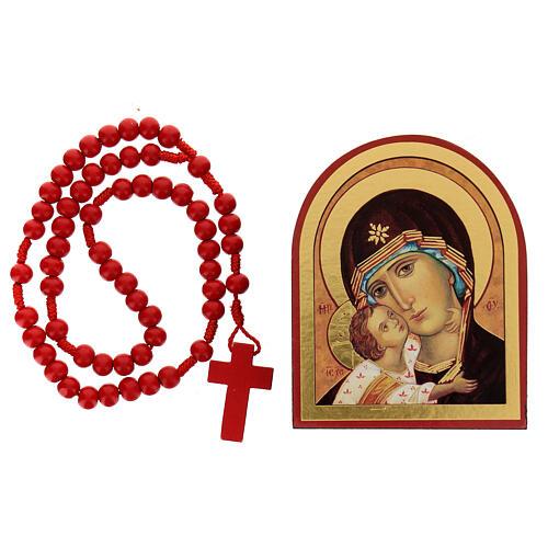 Kit rosario e icona Madonna Tenerezza 1