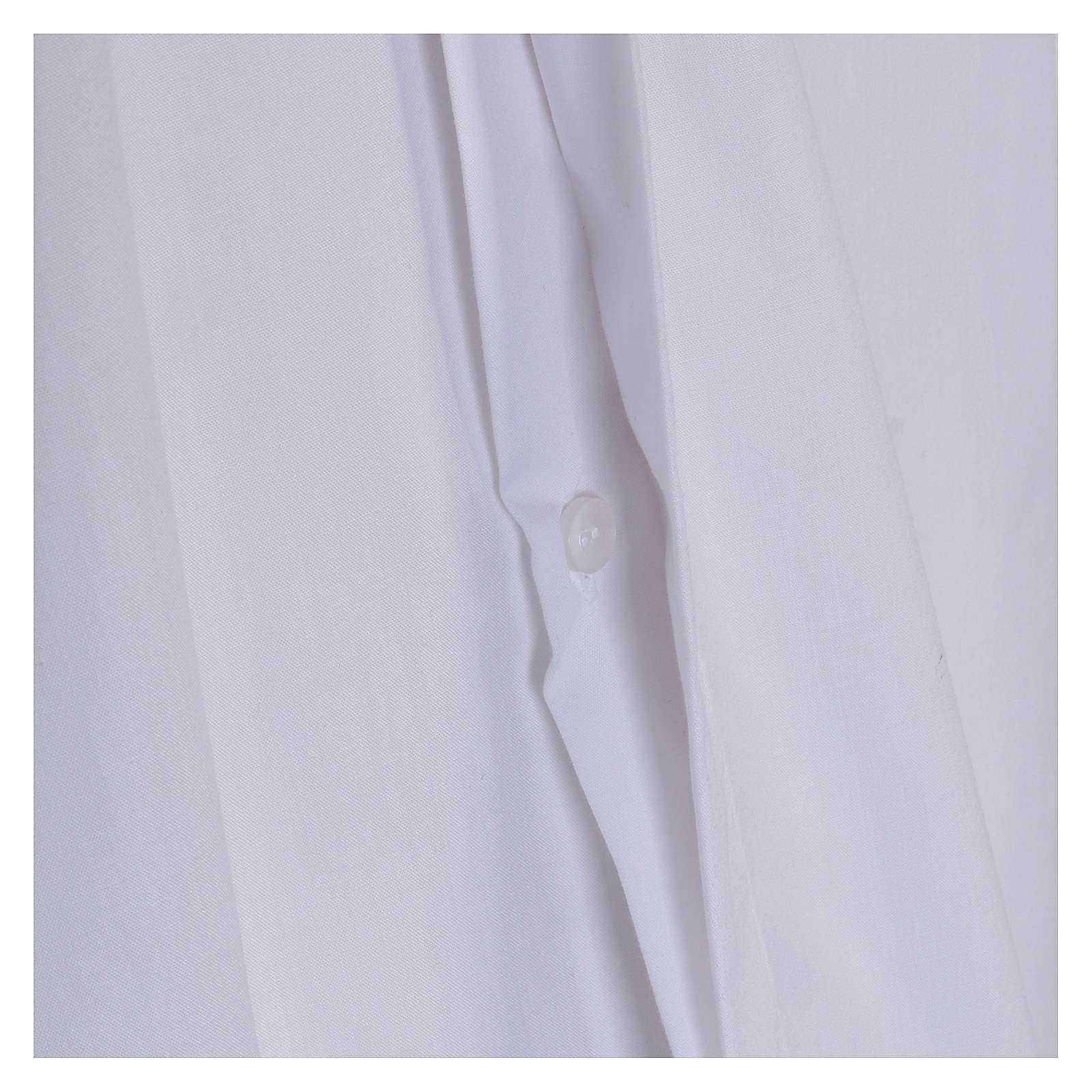 Long-sleeved clergy shirt in white cotton blend In Primis 4