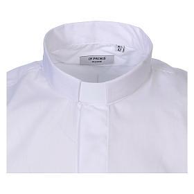 Camisa cuello Clergy manga larga mixto algodón blanca s2