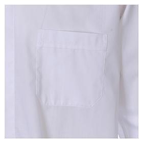 Camisa cuello Clergy manga larga mixto algodón blanca s3
