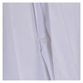 Camisa cuello Clergy manga larga mixto algodón blanca s4