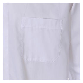Long Sleeve White Clergy Shirt, mixed cotton In Primis s3