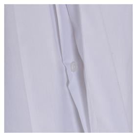 Long Sleeve White Clergy Shirt, mixed cotton In Primis s4