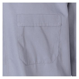 Camisa Clergy manga larga mixto algodón gris claro In Primis s3