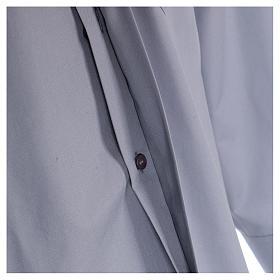 Camisa de sacerdote manga longa misto algodão cinzento claro In Primis s4
