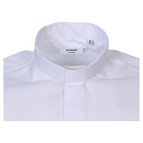 Short-sleeved clergy shirt in white cotton blend In Primis s2