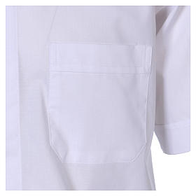 Short Sleeve White Clergy Shirt, mixed cotton In Primis s3
