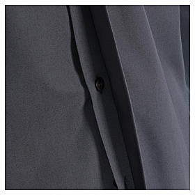 Camisa Clergy mixto algodón manga larga gris oscuro In Primis s4