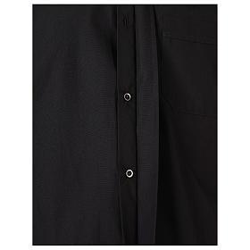 Chemise Clergyman longues manches tissu mixte coton noir s5