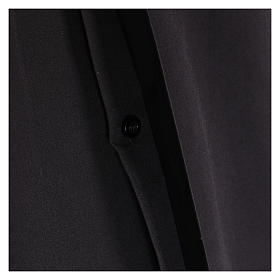 Camicia clergyman manica lunga misto cotone nera s4