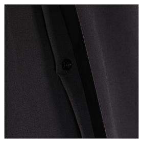 Camisa Clergyman manga longa misto algodão preto s4