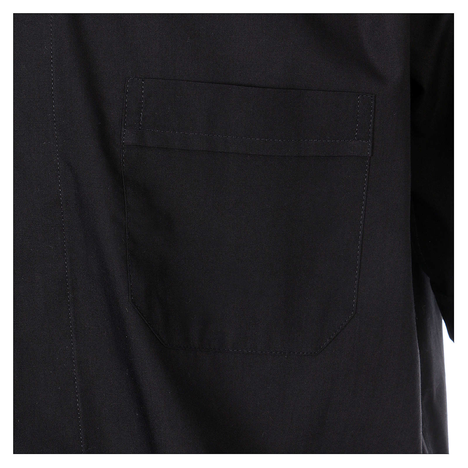 Camisa cuello Clergy manga corta mixto negra In Primis 4